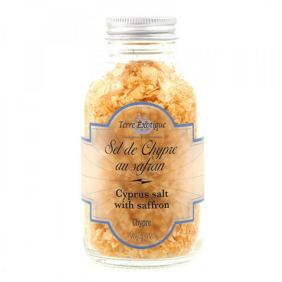 Kyproksen Suola Sahramilla | Cyprus Salt With Saffron | TERRE EXOTIQUE | 140g