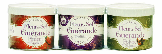 Merisuola Fleur De Sel Trio (Nature, Espelette, Szechuan) | Sea Salt Trio Pack | SEL DE GUERANDE | 3*30 G