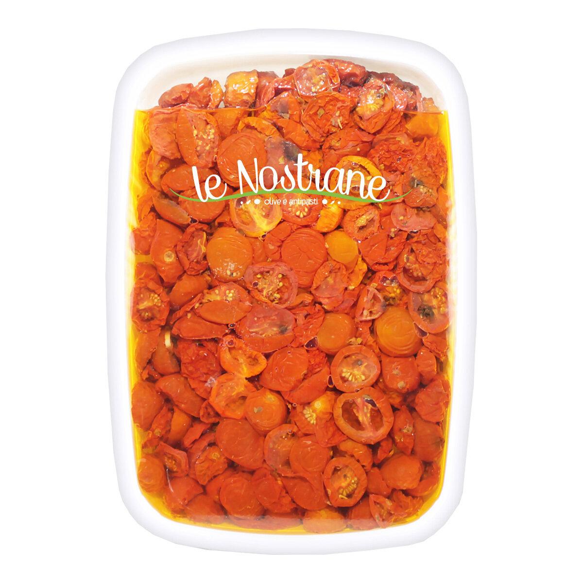 Puolikuivatut Kirsikkatomaatit Öljyssä   Semi-Dry Cherry Tomatoes In Oil   LE NOSTRANEN   1 KG