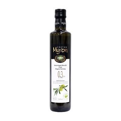 Luomu Ekstraneitsytoliiviöljy happoisuus 0,3 %   Organic Low Acidity Extra Virgin Olive Oil   CRETAN MYRON   500 ML