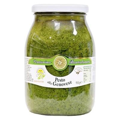 Genoese Oliiviöljypohjainen Pesto (D.O.P.) | Pesto With Genovese Basil D.O.P. And Evoo | VENTURINO | 950 G
