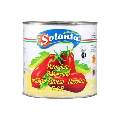 Peeled Plum Tomatoes | SOLANIA | 2,55 kg