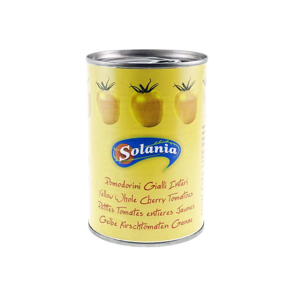 Kokonaiset Kuoritut Keltaiset Tomaatit | Yellow Peeled Tomatoes | SOLANIA | 400g