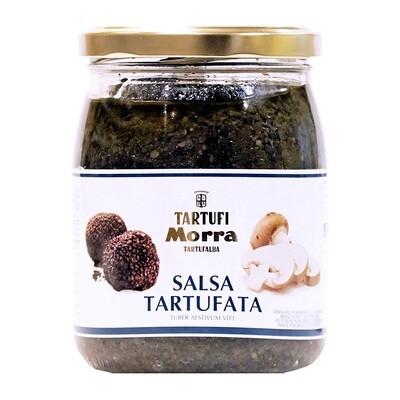Sienet & tryffelikastike Musta Tryffeli (8%) | Tartufata Mushrooms & Truffles Sauce | TARTUFI MORRA | 500 G