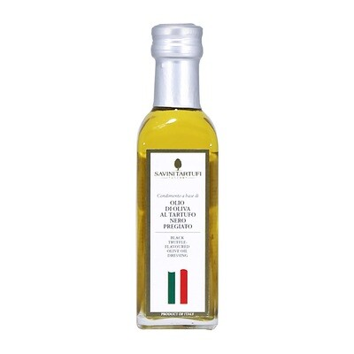 Black Winter Truffle Flavoured Olive Oil | SAVINI TARTUFI | 100ml