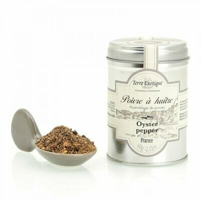 Oyster Pepper (Pepper Blend For Seafood) | TERRE EXOTIQUE | 60 G