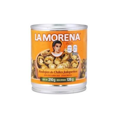 Viipaloidut Jalapenot   Sliced Jalapeno Chile Peppers   LA MORENA   210 G