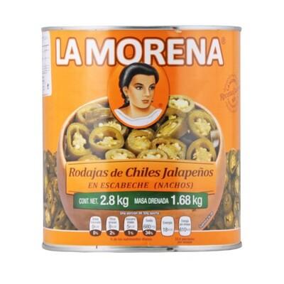 Viipaloidut Jalapenot   Sliced Jalapeno Chili Peppers   LA MORENA   2,8 KG