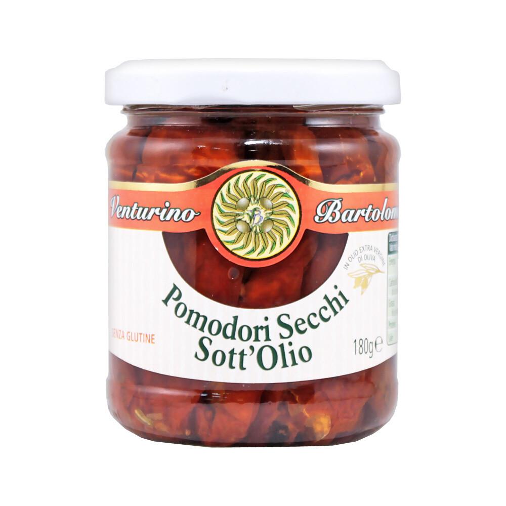 Aurinkokuivatut Tomaatit Ekstraneitsytoliiviöljyssä | Sundried Tomatoes in EVOO | VENTURINO | 180g