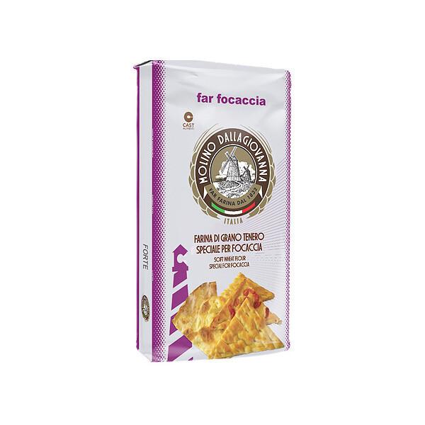 "Focaccia Jauho ""00"" W-330 | Focaccia Forte Flour | MOLINO DALLAGIOVANNA | 5kg"