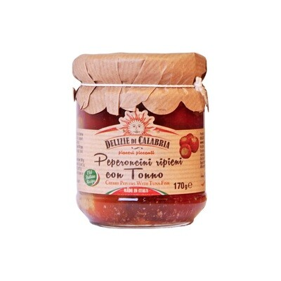 Tonnikalatäytteiset Paprikat | Tuna-Stuffed Round Peppers | DELIZIE DI CALABRIA | 170 g