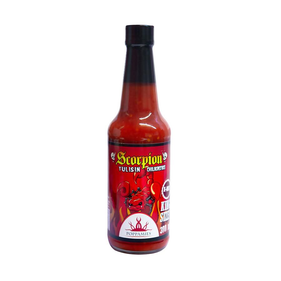 Scorpion -Chilikastike | Scorpion Extra Hot Sauce | POPPAMIES | 300ml