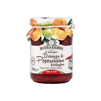 Luomu Peperoncino Chili-Paprikahilloa | Peperoncino Hot Pepper Organic Jam | DELIZIE DI CALABRIA | 160g