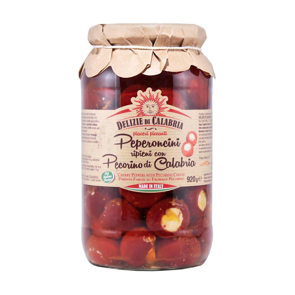 Pecorino-Juustotäytteiset Makeat Paprikat | Pecorino Cheese Stuffed Peppers | DELIZIE DI CALABRIA | 920 g
