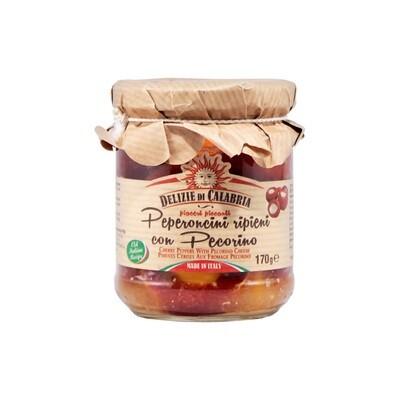 Pecorino-juustotäytteiset Paprikat | Pecorino Cheese Stuffed Peppers | DELIZIE DI CALABRIA | 170 g