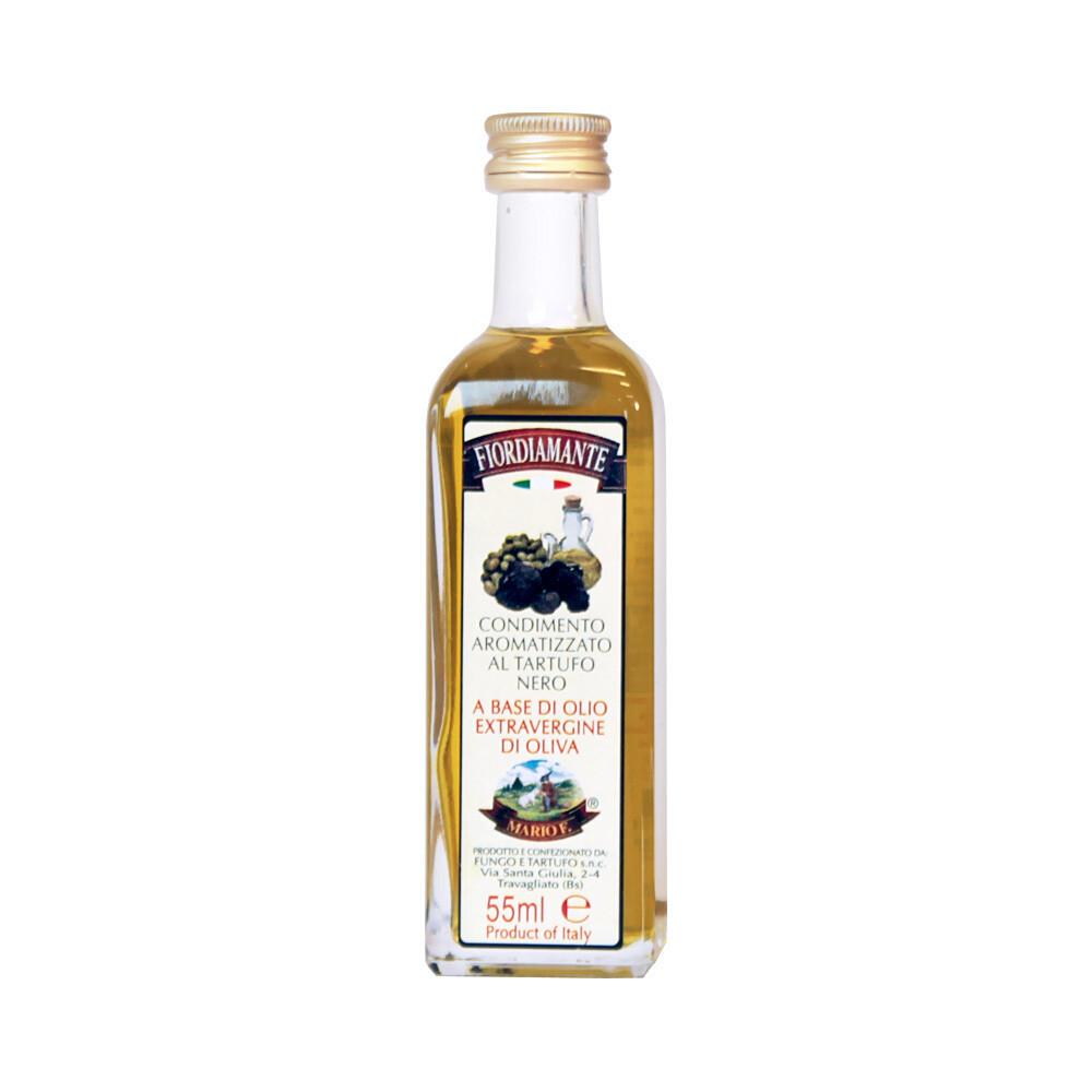 Mustista Tryffeleistä Ekstraneitsytoliiviöljyssä | Black Truffle Flavoured EVOO | FIORDIAMANTE MARIO F. | 55 ML