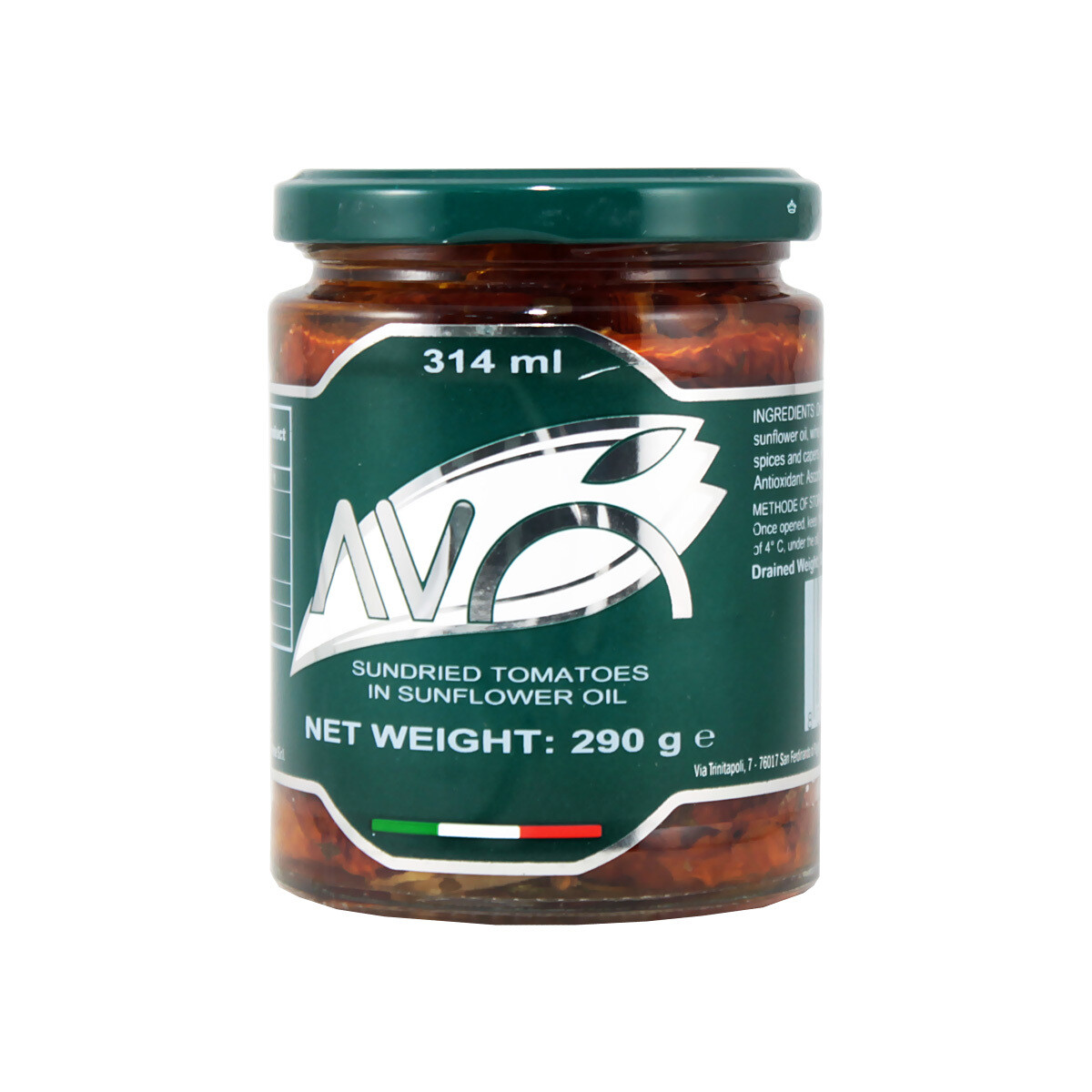 Aurinkokuivatut Tomaatit Öljyssä | Sundried Tomatoes in Oil | AVO | 290g