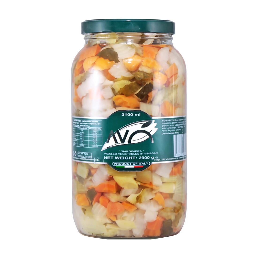 Marinoidut Vihannekset Viinietikassa | Giardiniera (pickled vegetables) | AVO | 2,9 kg