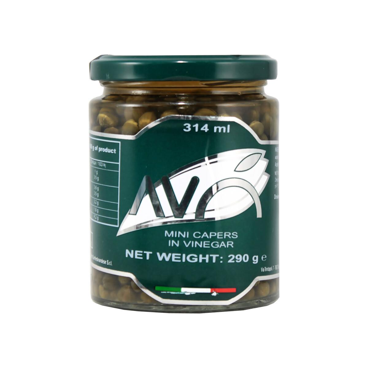 Pienet Kaprikset Viinietikassa | Small Capers In Wine Vinegar | AVO | 290g