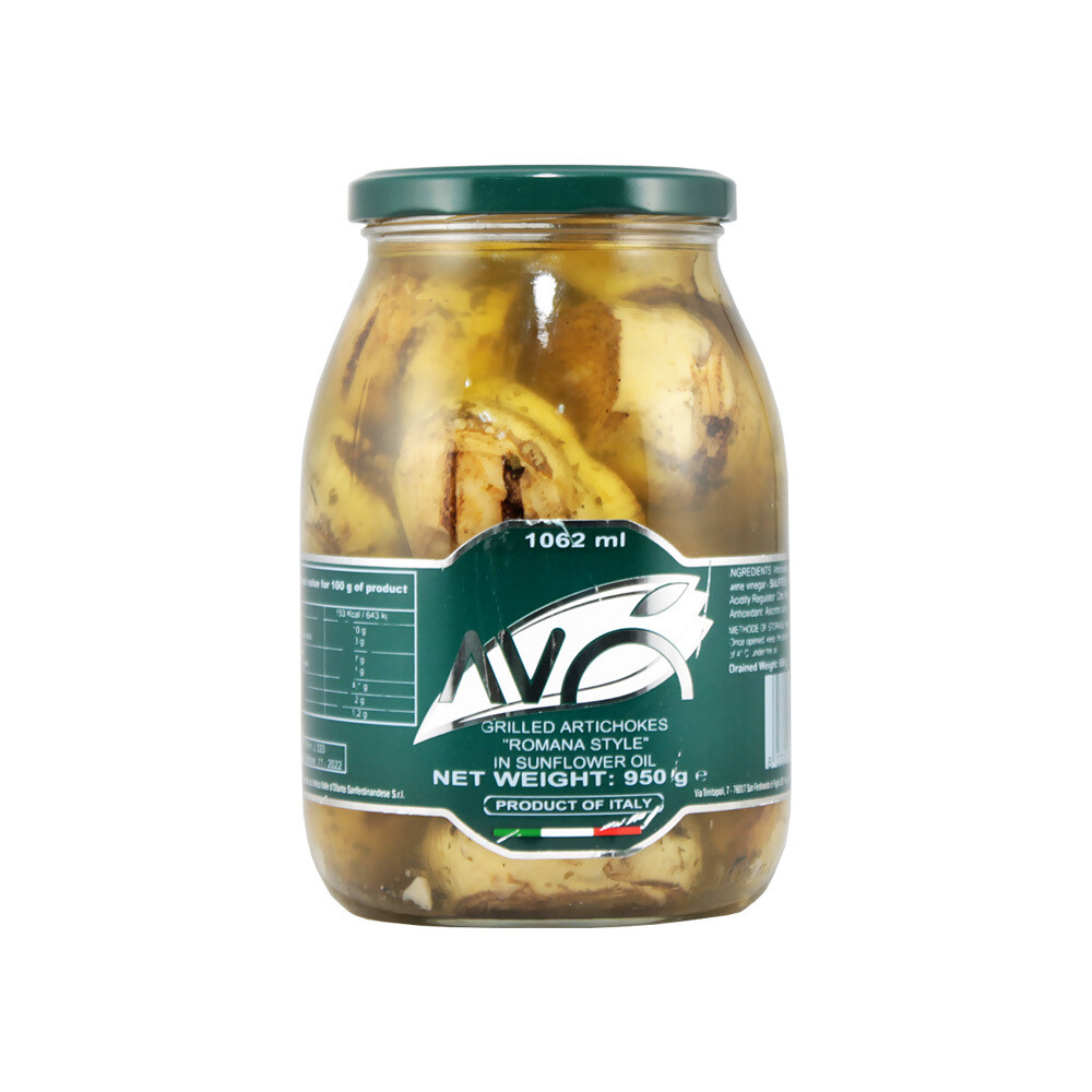 Grillatut Artisokat «Ala Romana» Öljyssä | Grilled Artichokes «Ala Romana» in Sunflower Oil | AVO | 950g