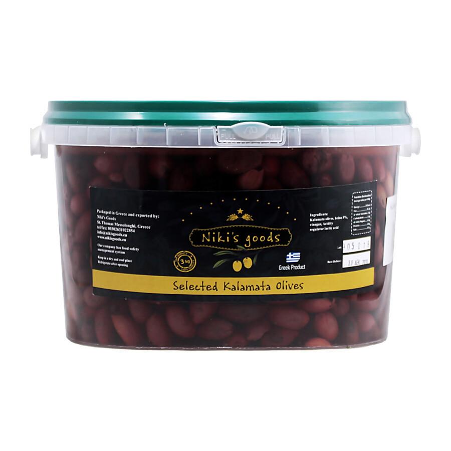 Kalamata Ex.Large Kivettömät Oliivit | Kalamata Ex.Large Pitted Olives | NIKISGOODS | 5KG (DNW 3KG)