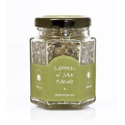 Keskikokoiset Kaprikset Merisuolassa | Medium Capers In Sea Salt | LA NICCHIA | 90 G