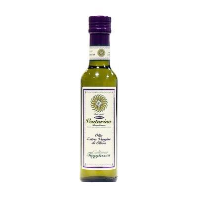 Ekstraneitsytoliiviöljy Taggiasca-Oliiveja Monocultivar | EVOO Taggiasca | VENTURINO | 250 ML