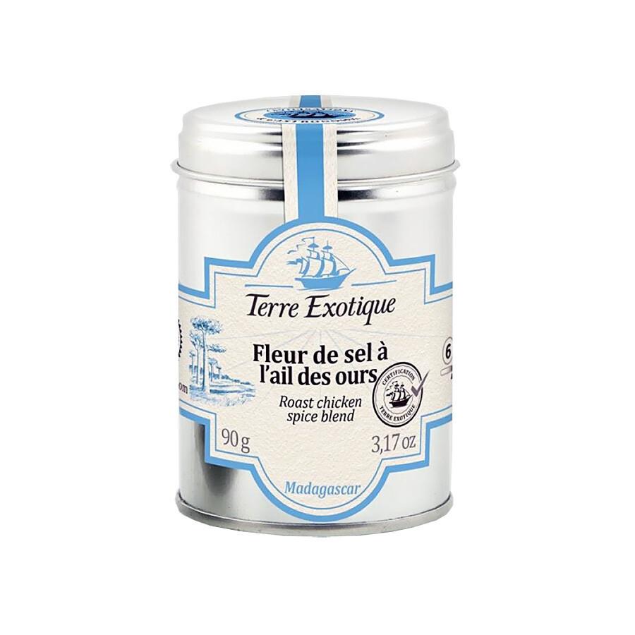 Fleur De Sel With Bear's Garlic | TERRE EXOTIQUE | 90 G