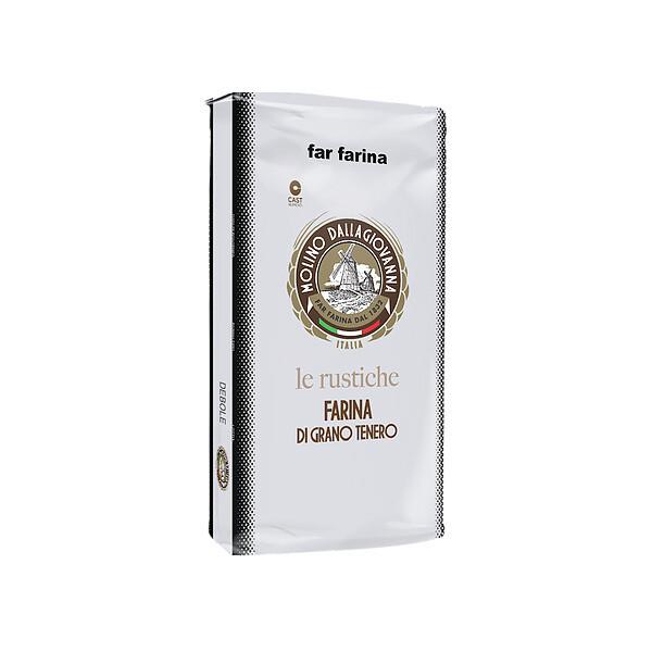 "La Rustiche Puoli-Täysjyvä Jauho ""2-Forte"" W-390 | Semi-Wholegrain Flour | MOLINO DALLAGIOVANNA | 5 KG"