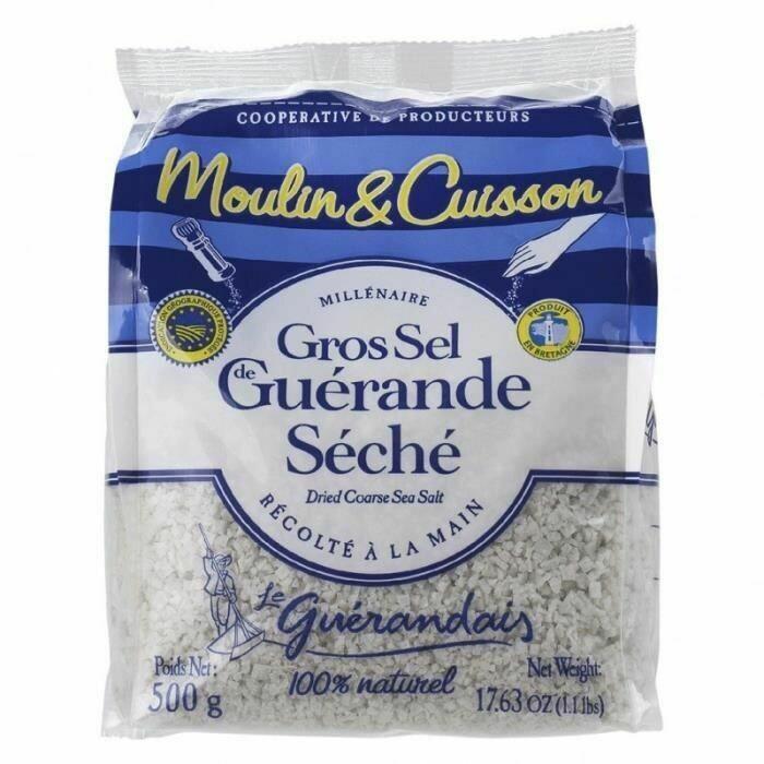 Merisuola, kuivattu karkea suolamyllyyn | Dried Coarse Salt For Mill | LE GUERANDAIS | 500 g