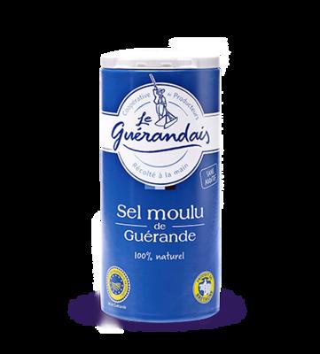 Merisuola, hieno, ravistimessa | Fine Sea Salt in Shaker | LE GUERANDAIS | 250 G