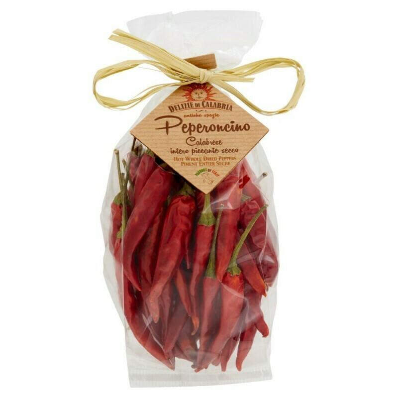 Kuivattu Peperoncino-pippuri | Whole Dry Peperoncino | DELIZIE DI CALABRIA | 10 g