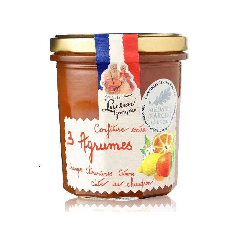 Korsikan 3 Sitrushillo Extra | 3 Citrus of Corsica Extra Jam | LUCIEN GEORGELIN | 350G