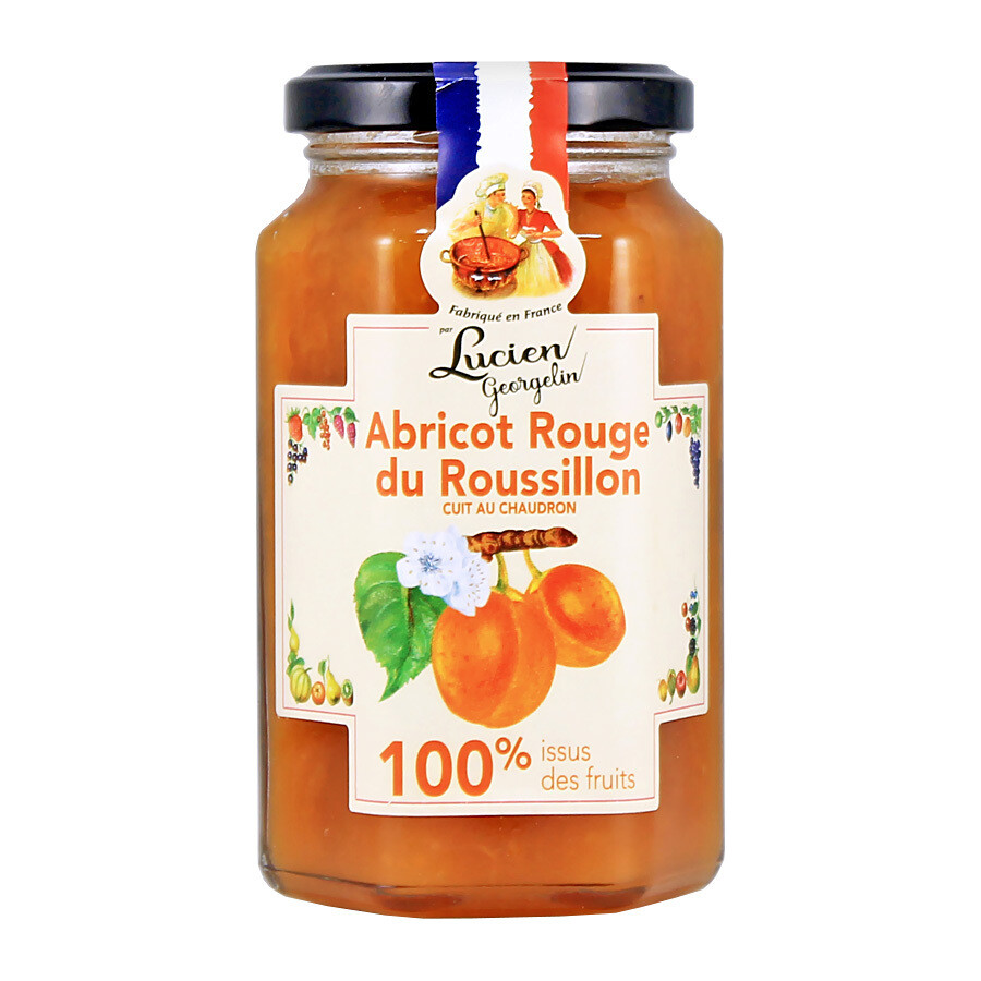 Aprikoosihillo Roussillonista 100% hedelmista | Apricot from Roussillon 100% jam | LUCIEN GEORGELIN | 300 G