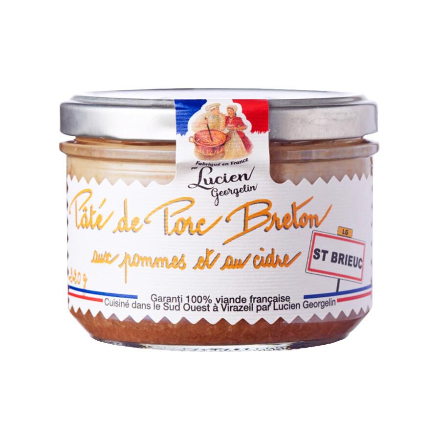 Breton Terriini, Sisältää Omenoita & Siideriä | Breton Terrine With Apples & Cider | LUCIEN GEORGELIN | 220g