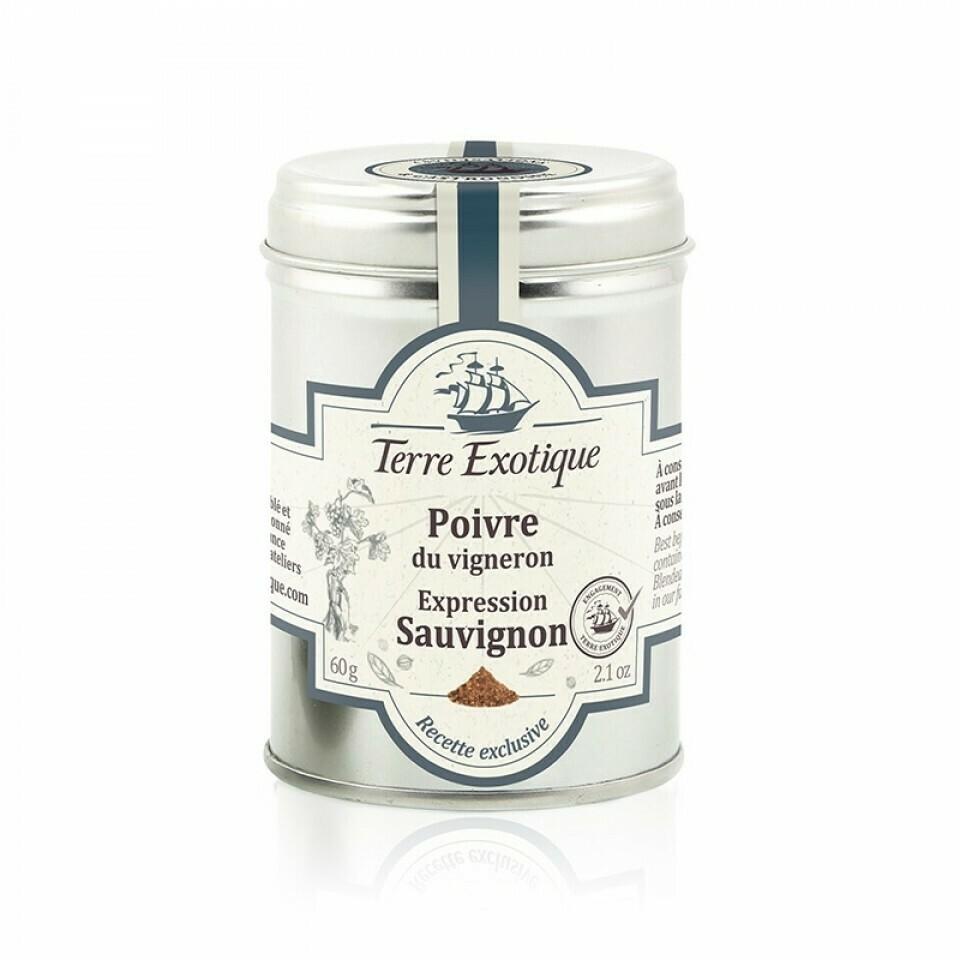 Viininviljelijän Pippuri Sauvignon -rypäleen ilmaus | TERRE EXOTIQUE | 60 g