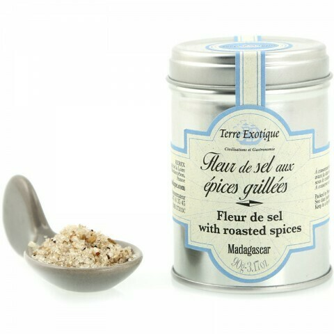 Fleur De Sel Paahdetuilla Mausteilla | Fleur De Sel With Roasted Spices | TERRE EXOTIQUE | 90 G