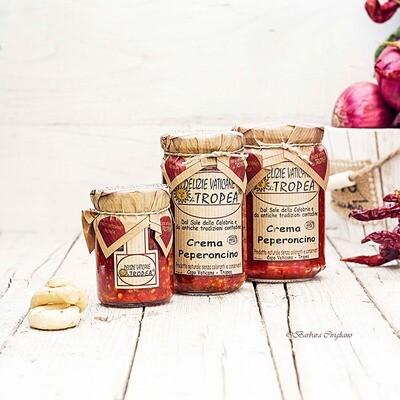 Hienonnettu Pepperoncino-pippuritahna  | DELIZIE VATICANE DI TROPEA | 180 g