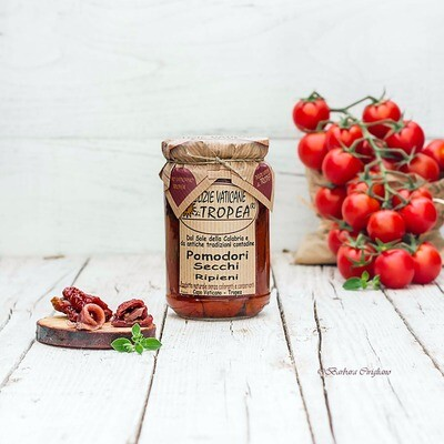 Aurinkokuivatut tomaatit kapriksilla ja sardellilla oliiviöljyssä | DELIZIE VATICANE DI TROPEA | 280 g