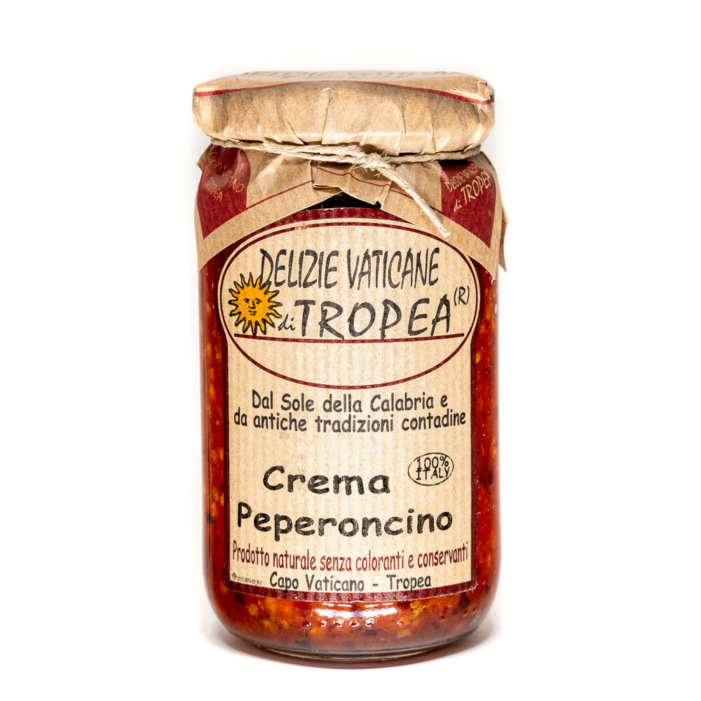 Pepperoncino-pippuritahna oliiviöljyllä | DELIZIE VATICANE DI TROPEA | 180g