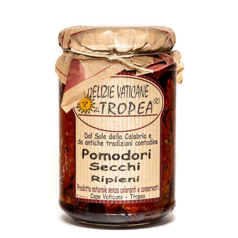 Aurinkokuivatut tomaatit kapriksilla ja sardellilla oliiviöljyssä | DELIZIE VATICANE DI TROPEA | 280g