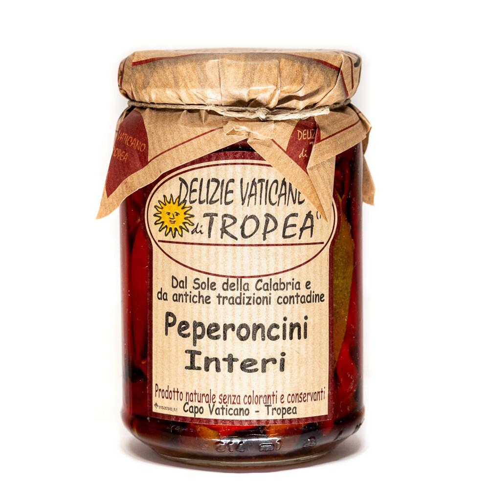 Kokonainen peperoncino-pippuri oliiviöljyssä | DELIZIE VATICANE DI TROPEA | 280 g