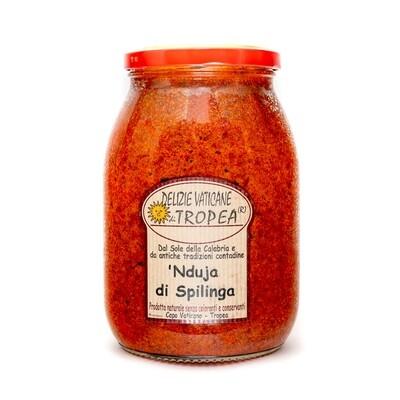 Nduja di Spilinga Original Salami Cream with Olive Oil | DELIZIE VATICANE DI TROPEA | 1000g