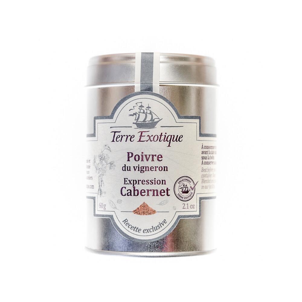 Viinintekijän Pippuri Cabernet -rypäleen ilmaus | TERRE EXOTIQUE | 50 g
