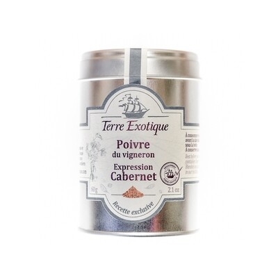 Winegrower's pepper, Expression Cabernet | TERRE EXOTIQUE | 50g