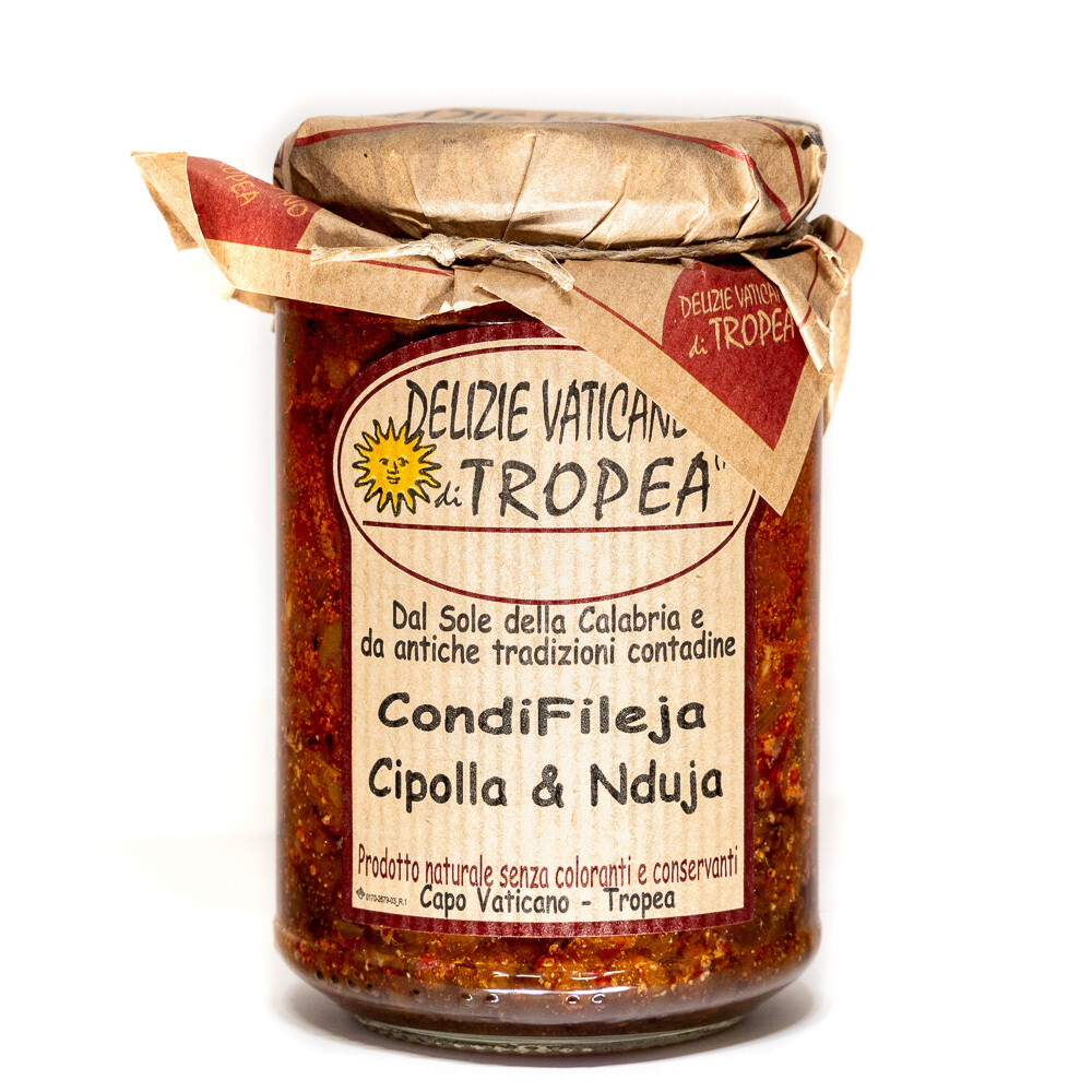 Red Onion & 'Nduja Pasta Sauce | DELIZIE VATICANE DI TROPEA | 280g