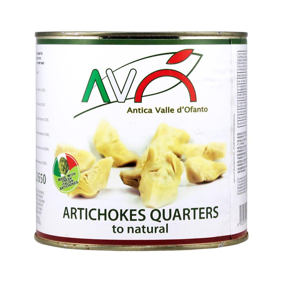 Artisokka neljäsosaa pizzalle | Natural Artichoke Quarters for Pizza | AVO | 2600 g