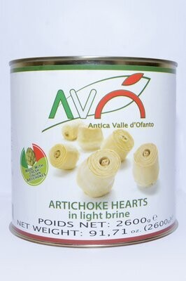 Artisokkat Pizzalle   Natural Whole Artichoke for Pizza   AVO   2600 g
