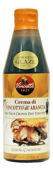 Oranssi Kuori Vincotto-etikkakastik Glaze | Orange Zest Vincotto Cream | CALOGIURI | 400 ML