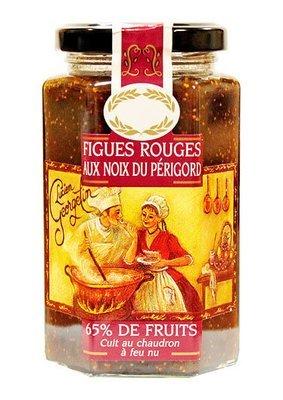 Punaviikuna & Saksanpähkinähillo 65% | Red Fig And Walnuts Jam | LUCIEN GEORGELIN | 300 G